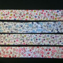 Multi Coloured Floral Bias Binding